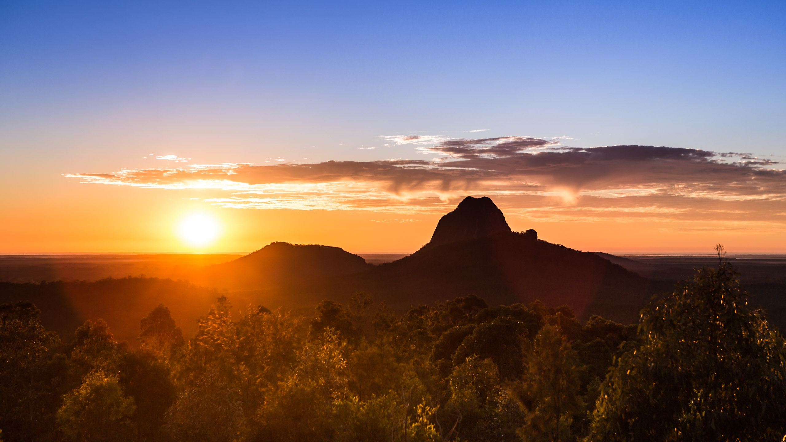 Colorful Australian Morning - Glass House Mountains, QLD, Australia